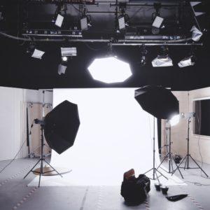 attrezzatura di uno studio fotografico